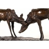 Playful Deer Bronze Sculpture