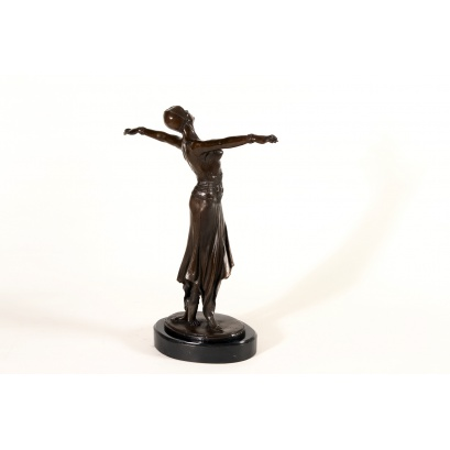 Art Deco Stretching Dancer Bronze Sculpture