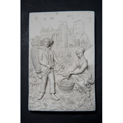 Marble Dutch Wall plaques (pair)