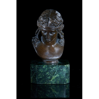 Bronze Bust of Dionysus's female Companion
