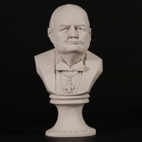 Churchill Bust Marble Sculpture