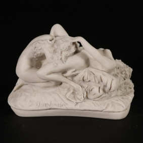 Female Lovers Marble Sculpture