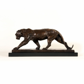 Mountain Lioness on the Hunt Bronze Sculpture