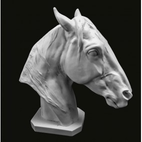 Thoroughbred Horse Head Marble Sculpture