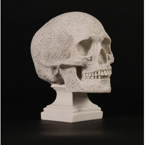 Celtic Skull Marble Sculpture