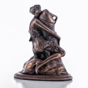 The Hugger Cold Cast Bronze Sculpture