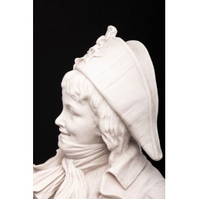 French Revolutionary Boy Marble bust.