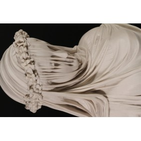 Veiled Lady Bust Marble Sculpture