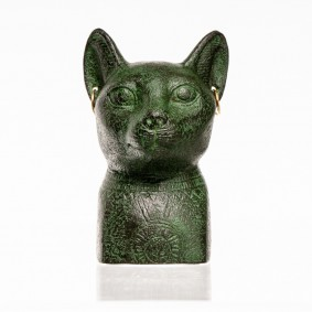 Bastet Egyptian Cat Goddess (head)