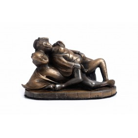 Erotic Bronze Japanese Lovers
