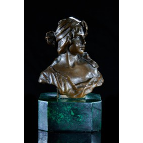 Bronze Bust of a Girl