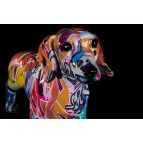 Graffiti Dog, Dachshund Sculpture