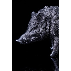 Chrome plated Boar Sculpture